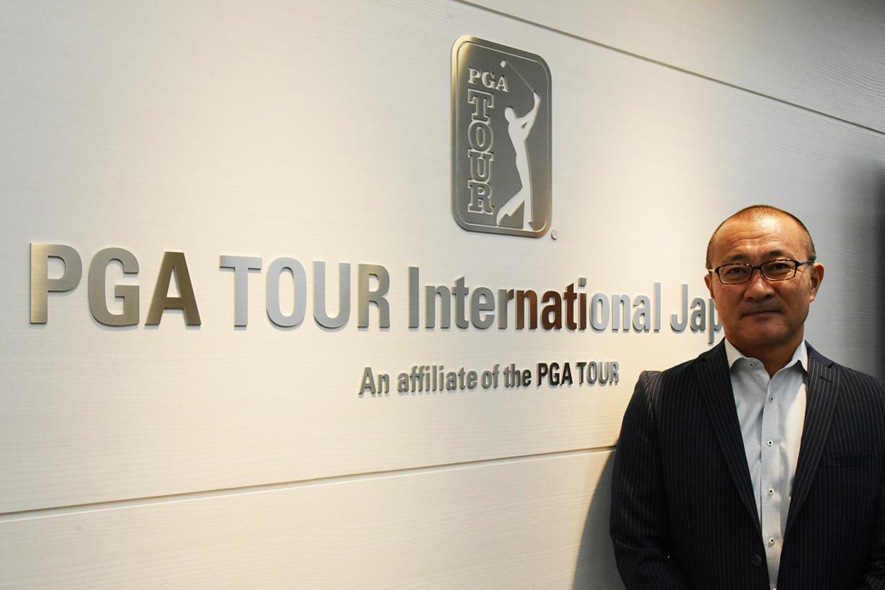 画像: PGAツアーの現状について聞かせてくれた石井アジア支社長