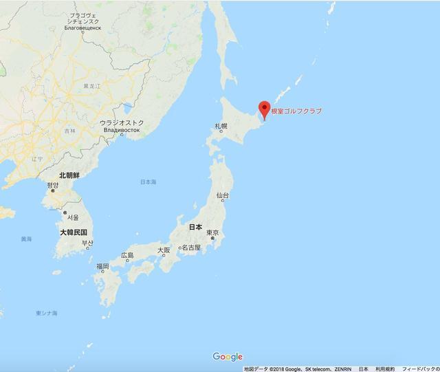 画像: 根室ゴルフクラブは北海道の根室半島に位置する。日本最東端のコースだ(画像はGoogle MAPの画面キャプチャ)