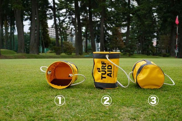 画像: それぞれのバケツにボールを入れるイメージをしたときに、最も入りそうに感じるのは何番? 最も難しそうなのは?それがアプローチ成功の確率を表しています!