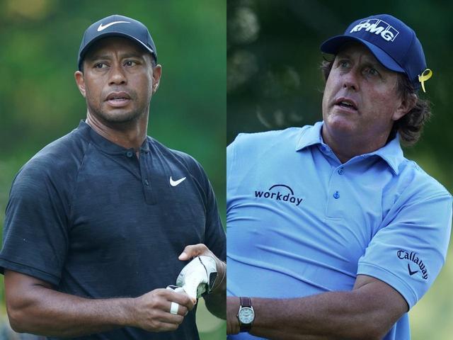 画像: タイガー・ウッズ(左)とフィル・ミケルソン(右)果たして勝つのは!?(写真は2018年の全米プロゴルフ選手権 撮影/姉崎正)