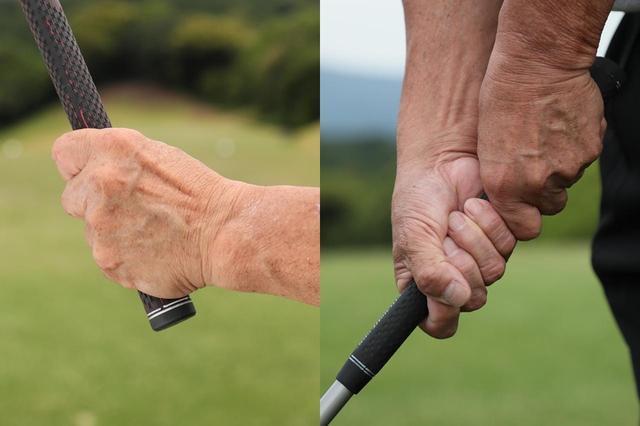 画像: テンフィンガーグリップは手の構造通りに握るため自然で無駄がない