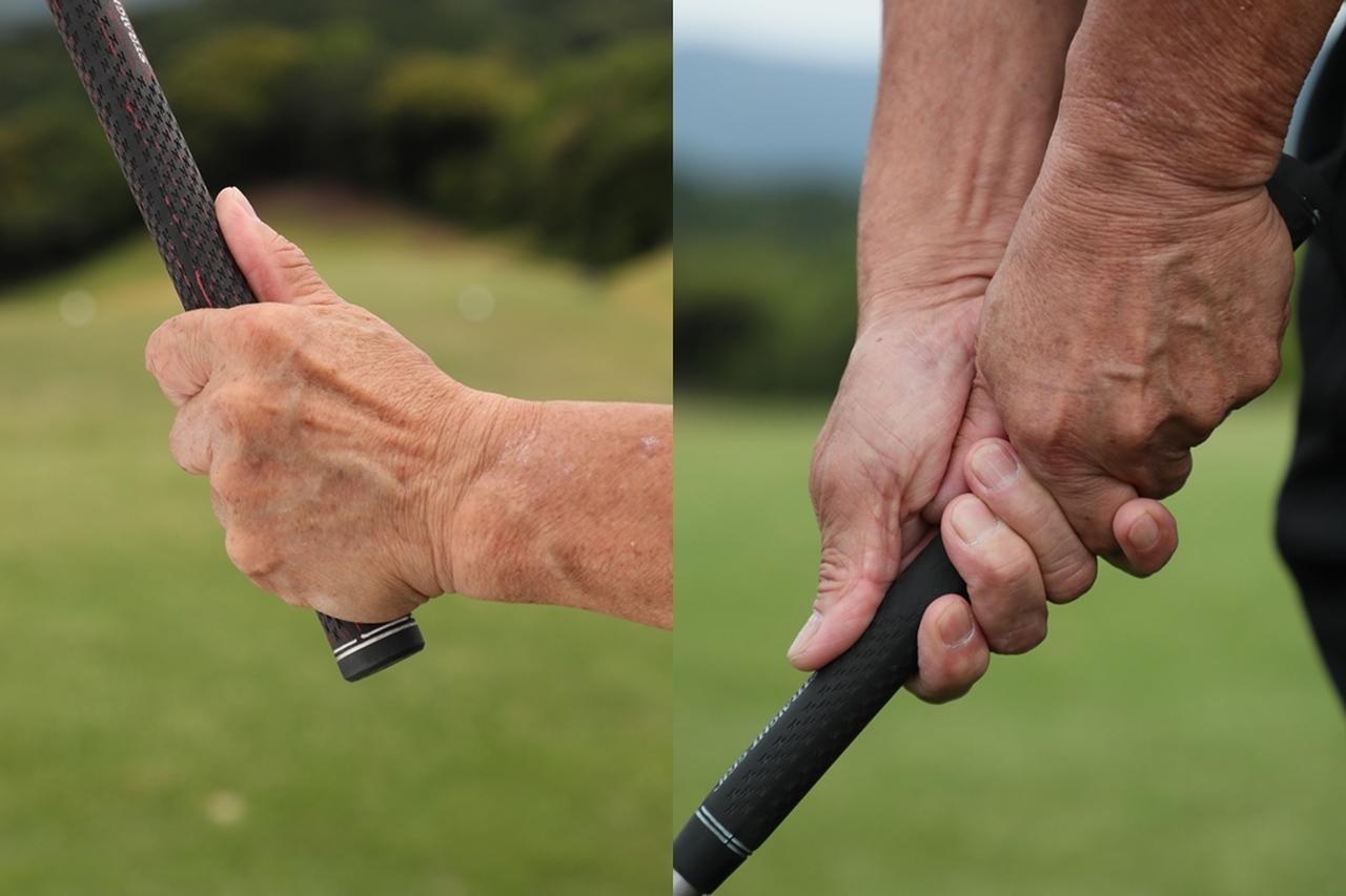 画像: 従来のグリップでは手のひらの感覚を活かすことができないと篠塚