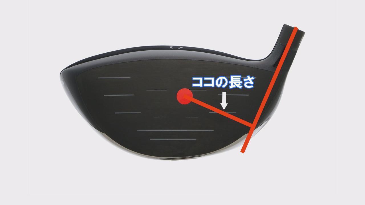 画像: 重心距離とは、シャフトの軸線から芯までの距離のこと