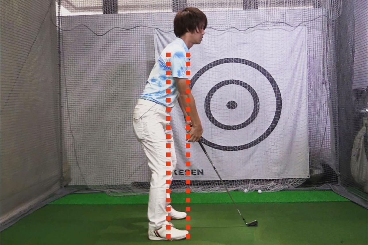 画像: 画像4。正しいアドレスができているかどうかは肩の位置でチェックしよう