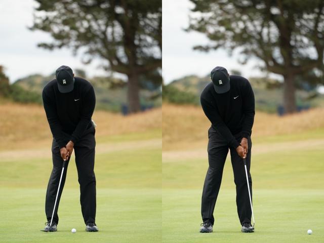 画像: タイガーのテークバックは幅は小さいのは体全体でストロークしている証拠(写真は2018年の全英オープン 撮影/姉崎正)