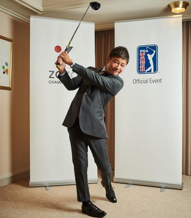 画像: 大手ファッション通販サイト「ZOZOTOWN」を運営するZOZOの創業者であり、代表取締役社長。民間人初の月旅行を契約したことでも話題。ゴルフはシングルの腕前で、年間に50回程度ラウンドするレフティゴルファーだ