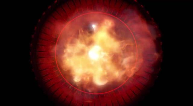 画像: 動画にはジェットエンジンの「アフターバーナー」的なイメージが映し出されているが……(画像は動画のスクリーンショット)