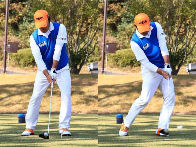 画像: アドレスからインパクトまで頭が左右にほぼ動いていない(写真は2018年日本シリーズ 練習日 撮影/大澤進二)