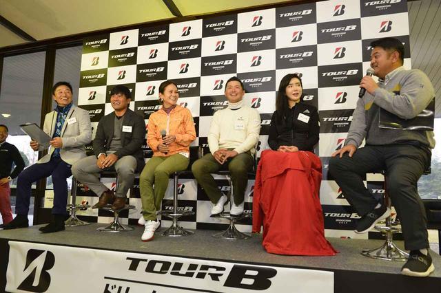 画像: 左から宮本勝昌、宮里優作、宮里藍、片岡大育、アン・シネ、宮里聖志。超豪華メンバーでのトークショーだ