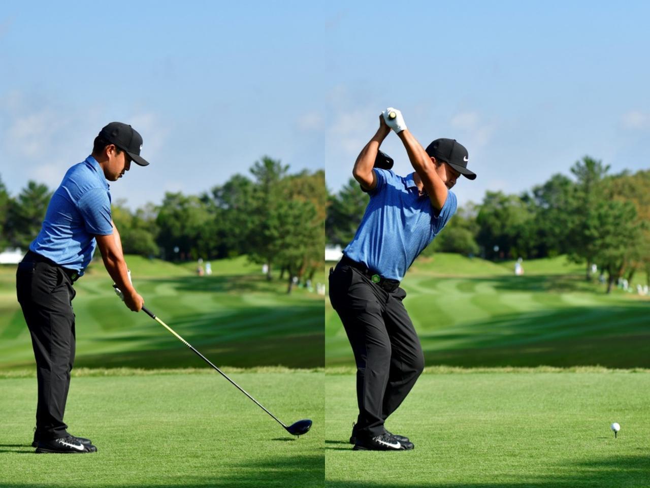 画像: ティンガーで握ることで腕をねじることもなく、トップの位置がいつも安定し、再現性も高い。(写真は2018年のマイナビABCチャンピオンシップ 撮影/有原裕晶)