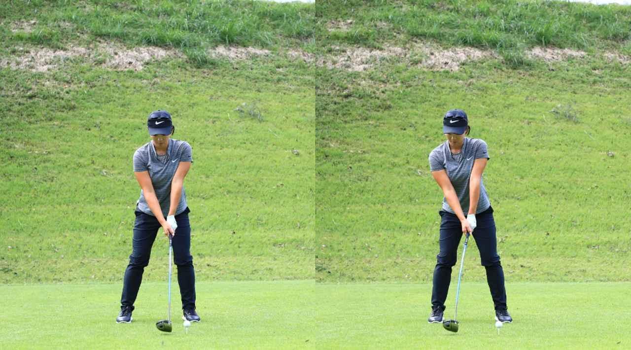 画像: 写真1 右への重心の移動から始動する(写真は2018年スタンレーレディス 写真/大澤進二)