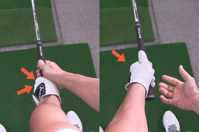 画像: 強く握ろうとすると写真右のように左手の拳が見えない。写真左のように、人差し指と中指の拳が見えるように握ろう
