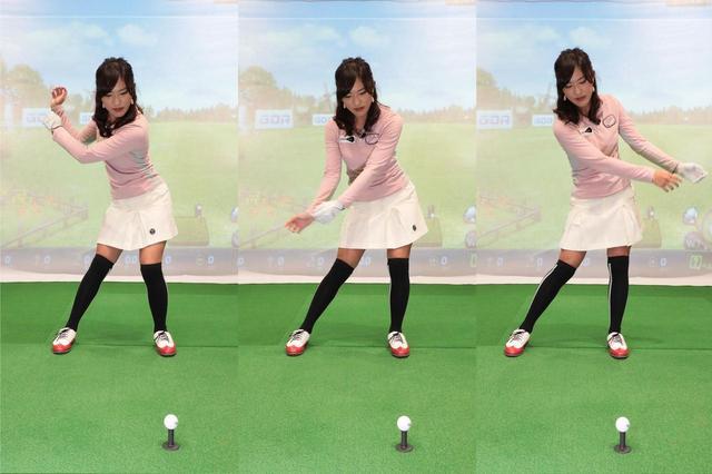 画像: 腕は力まず脱力し、下半身の動きに引っ張られて、受動的に「振られる」ことが大事。腕をムチのように使おう