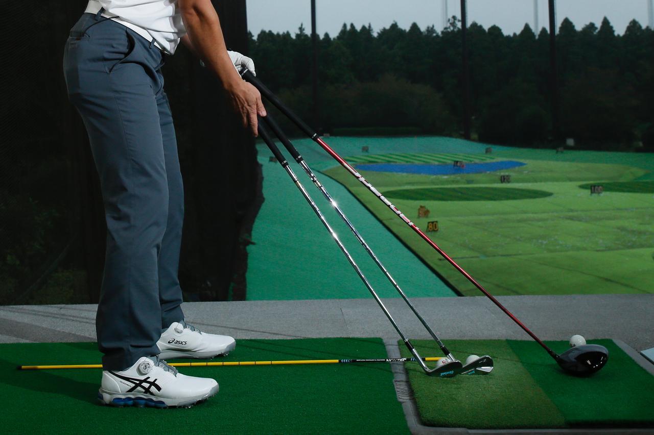画像: クラブの長さによって、ボールとの距離は変わる