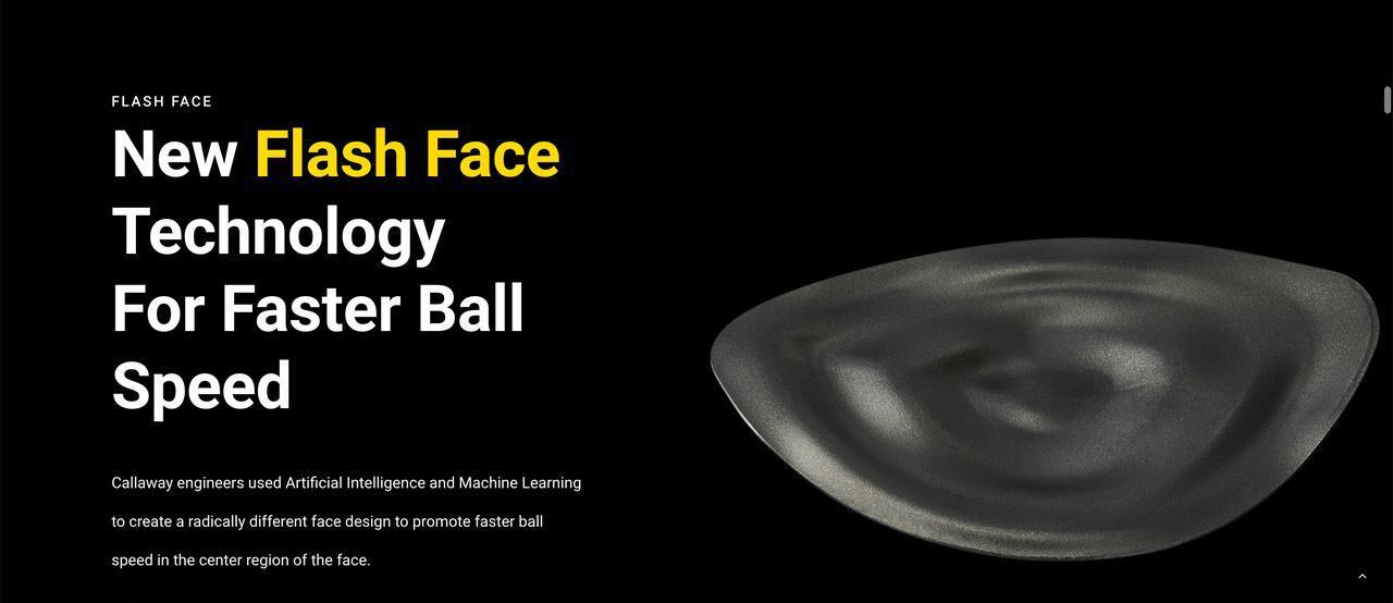 画像: エピックフラッシュには、人工知能によって導き出された「フラッシュフェース」が搭載されている。水面の波紋を思わせるようなフェース裏側のデザインがかなり特徴的(画像は米国キャロウェイ公式サイトの画面キャプチャ)