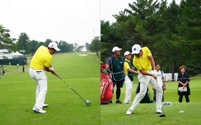 画像: 画像2:体の中心部の回転でボールを運ぶように打つ(写真は2018年日本オープン 写真/姉崎正)