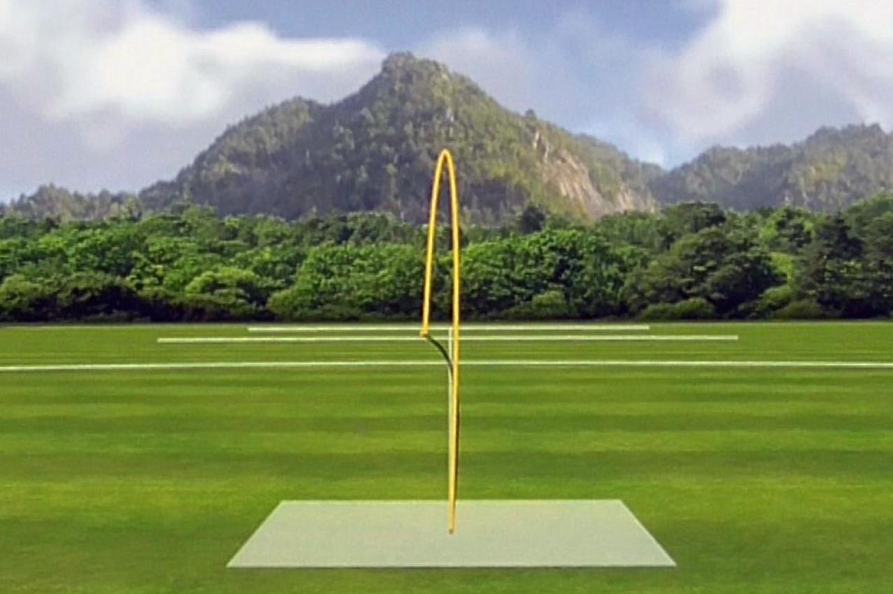 画像: (画像D)M5 TOURの弾道。スタンダードモデルよりも弾道は若干低めで、球の勢いは強い