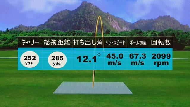 画像: 少しつかまえたのがこの弾道。つかまえた分だけ飛距離が伸びている
