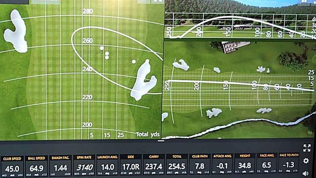 画像: 中村修の弾道データ。スピン量やや多め、打ち出し高めの高弾道フェード(ほぼ持ち球)で曲がりの少ないビッグキャリーが出た。前作から変わらぬ安定感はさすが