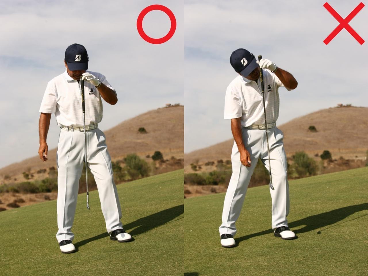 画像: 鉛直に立ったときは、目線を上げてはいけない
