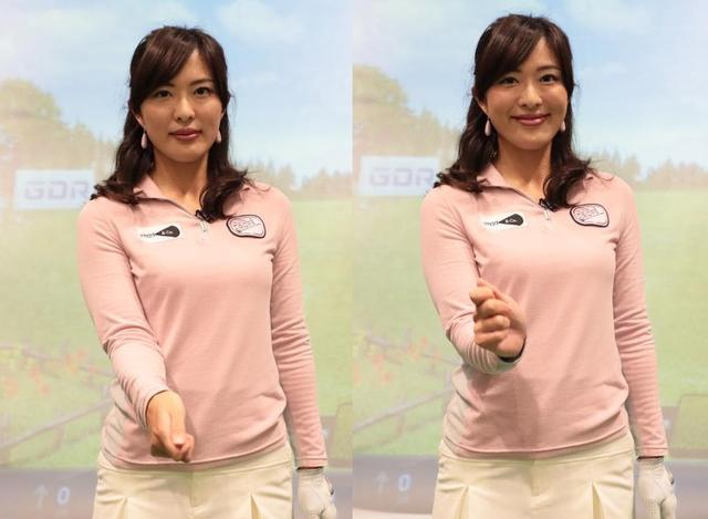 画像: バックスウィングでの右手首のコックは、縦(親指側)と横(甲側)の中間の斜め方向に使うのが正解