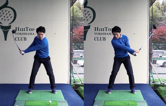 画像: 右足を止めてスウィングすることで、自然とフェースターンが起こりボールがつかまり易くなる