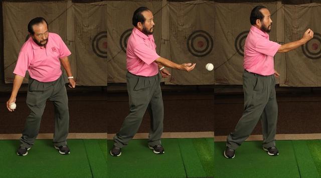 画像: 野球ボールの下手投げで「ねじらない」感覚をつかもう