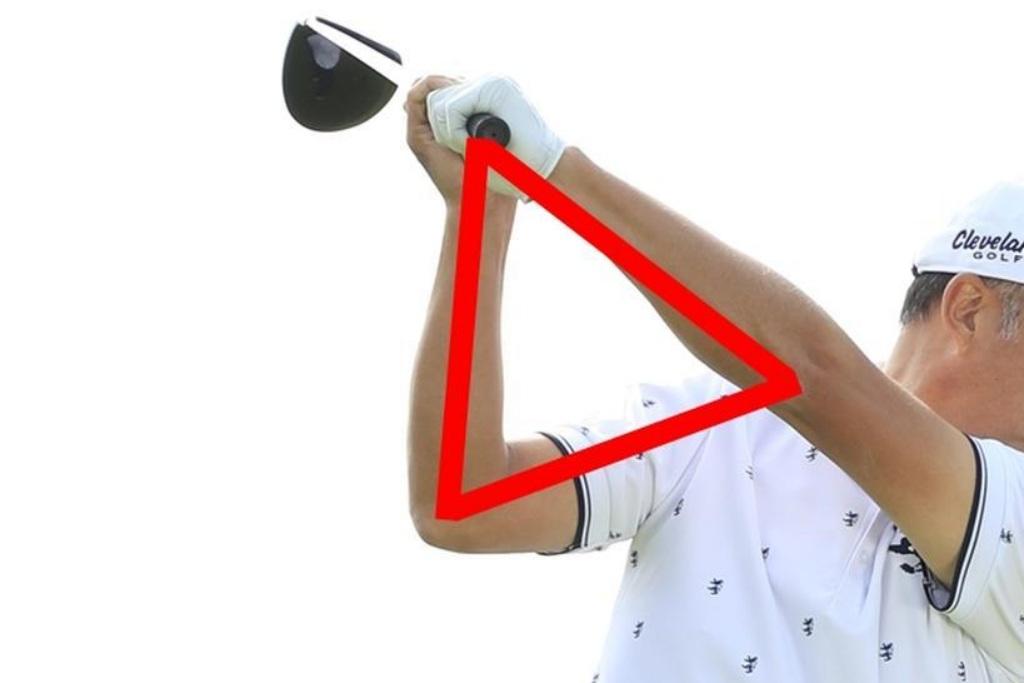 画像: 赤線部分が、小松原プロの言っていた「三角窓」
