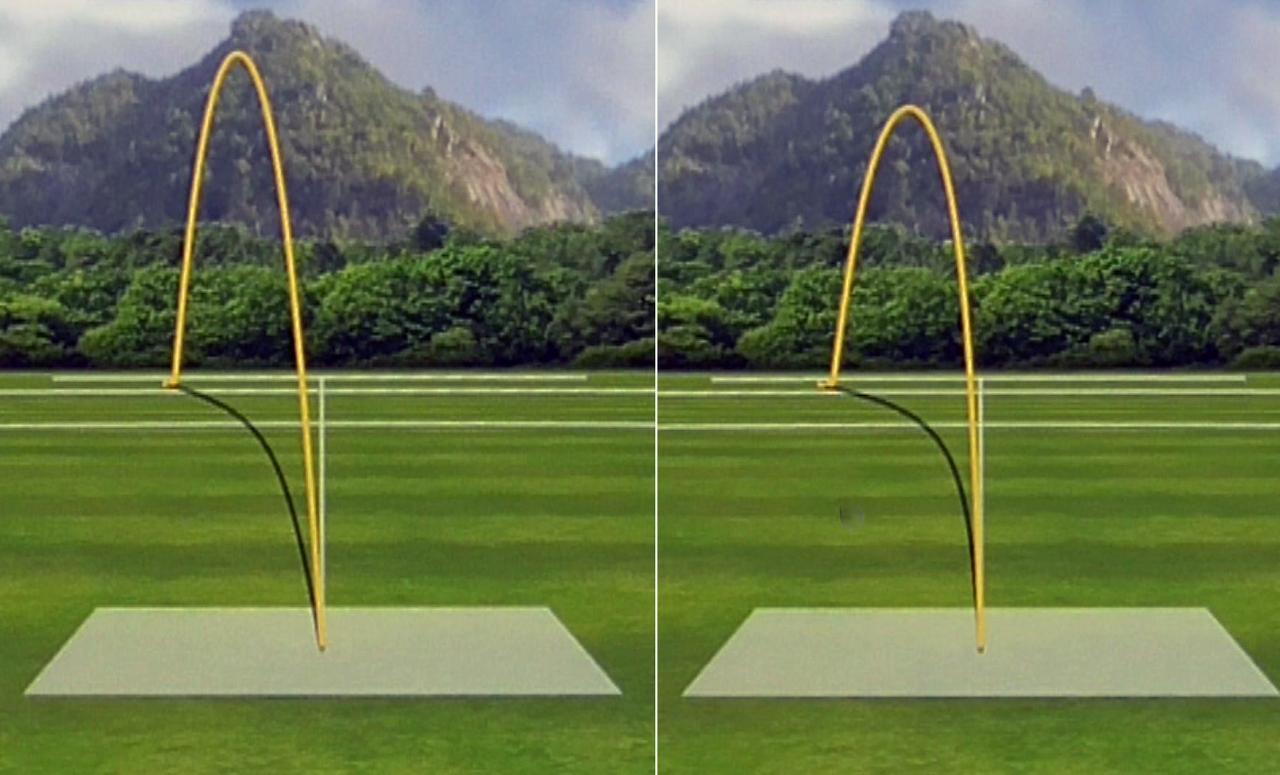 画像: 左がスター、右がサブゼロの弾道。スターは高弾道、サブゼロは中弾道といったところ