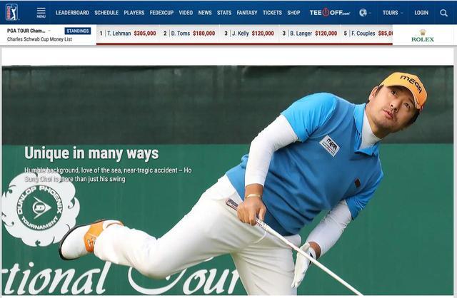 画像: PGAツアーの公式サイトでも「虎さん特集」が組まれるなど、注目度は非常に高い