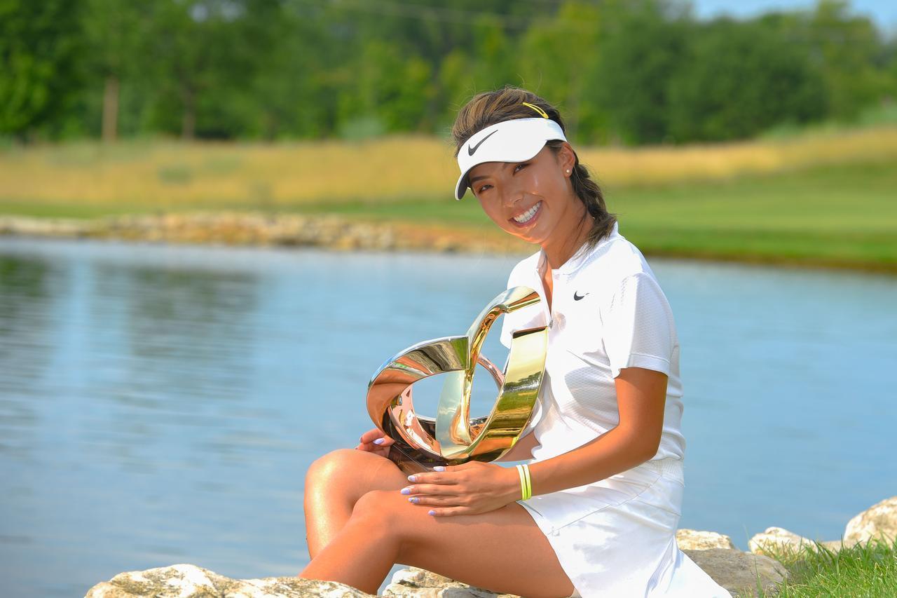 画像: 昨年6月、下部ツアーで優勝を果たしたへ・ムニ(写真/LPGAtour)
