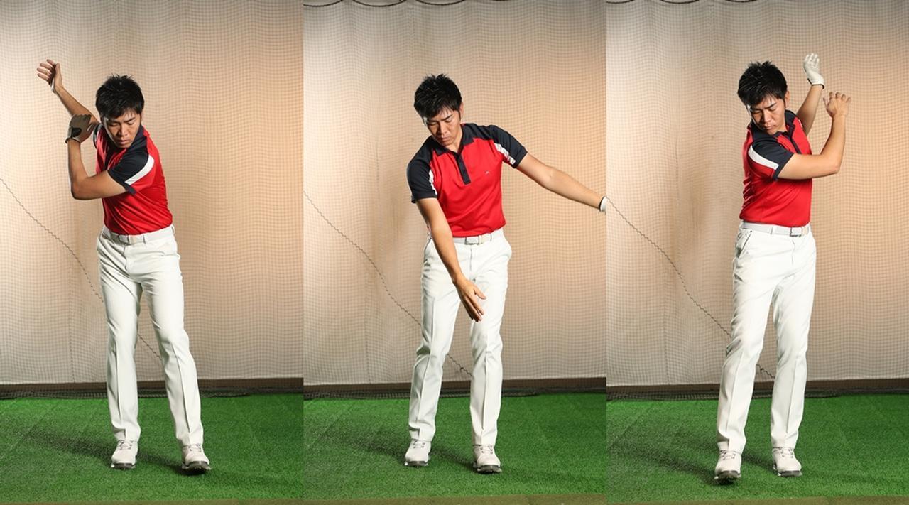 画像: 歩きながら腕を振ってみると、足を踏み込む動作によって、腕が「振られる」カが大きくなることが体感できる