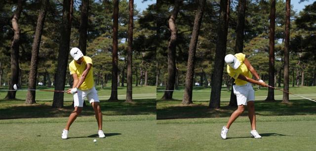 画像: 画像B 肩を縦に回転させる意識で前傾角をキープする(写真は2018年ワールドレディスチャンピオンシップ サロンパスカップ 写真/姉崎正)