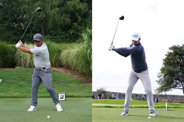 画像: 画像B コックを早いタイミングで使うF・モリナリ(左)とJ・ローズ(右)(写真は2018年ブリヂストン招待(F・モリナリ)と2019年ファーマーズインシュランスオープン(J・ローズ)写真/姉崎正)