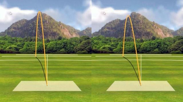 画像: 堀口とM5とM6の弾道比較(左がM5、右がM6)。つかまりが増していることがわかる