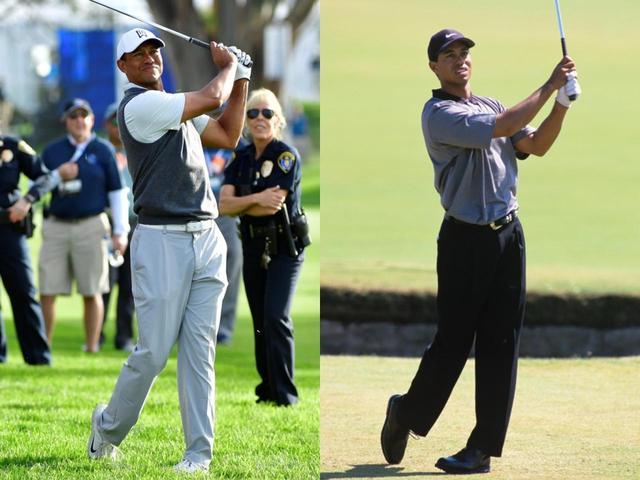 画像: 2019年のファーマーズインシュランスオープン(左)と2000年の全英オープン(右)を比べてみると体格の違いがわかる