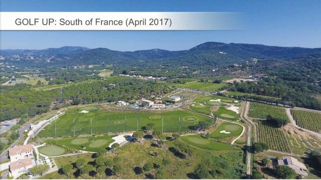 画像: フランスの「GOLF UP」は都市部から5キロ圏内にある総人工芝のショートコースだ(画像はルシール氏のプレゼンテーションより)