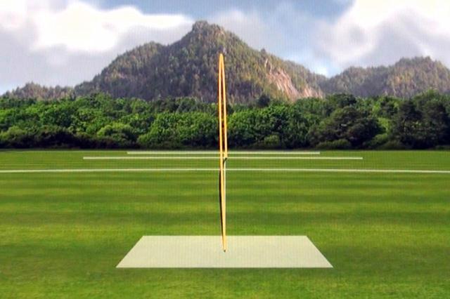 画像: 中村の打球の弾道。直進性の高さ、弾道の高さは特筆モノ