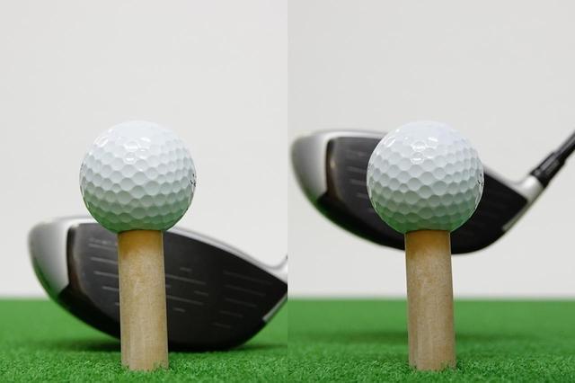 画像: トウ寄りに配置しておけば、インパクト時にフェース中央にボールが当たる