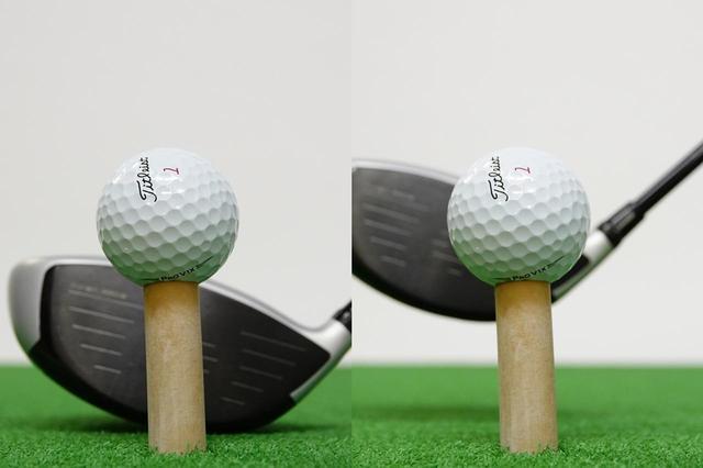 画像: (写真A)フェース中央にボールを合わせてセットアップすると、インパクト時には若干ヒール寄りになってしまう