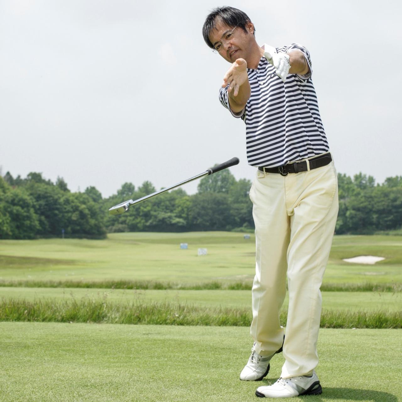 """画像: クラブが""""寄り道""""しなくなる。重量を活かしてスウィングしよう【これでいいの?これだけで飛ぶの?vol.11】 - みんなのゴルフダイジェスト"""