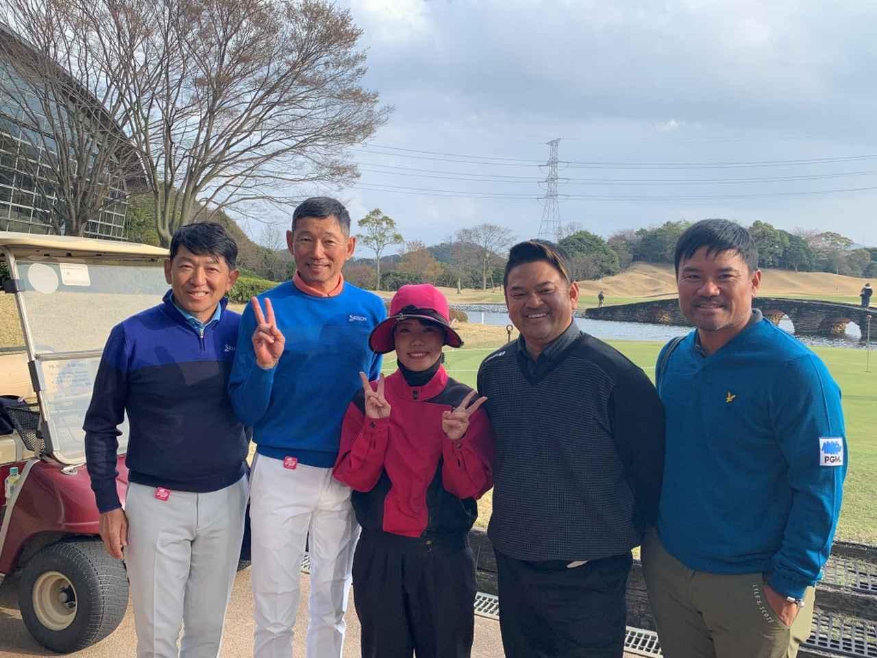 画像: 北九州オープンに参戦した宮里優作(右)