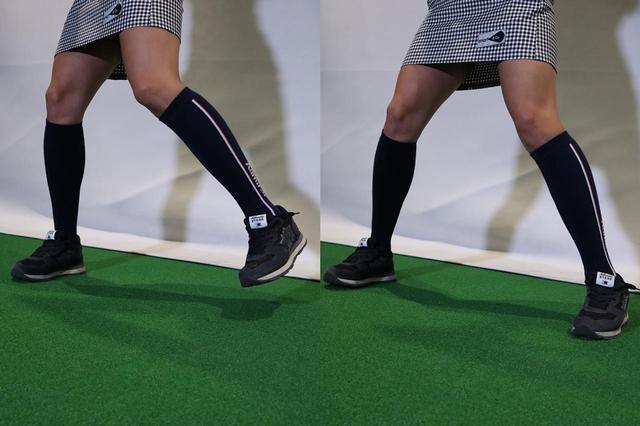 画像: 左足を戻す時に地面を強く踏み込んでみよう