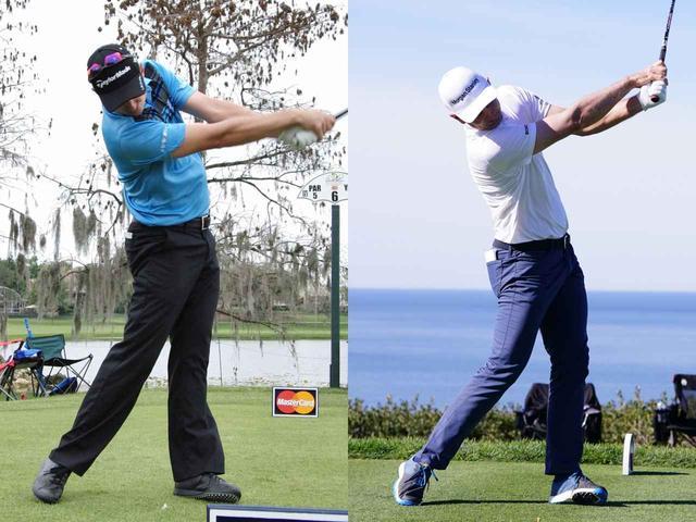 画像: 全米オープンを勝った2013年のスウィングと比べると、フォローで顔が目標方向を向くのが速いのがわかる(左写真撮影/南しずか)