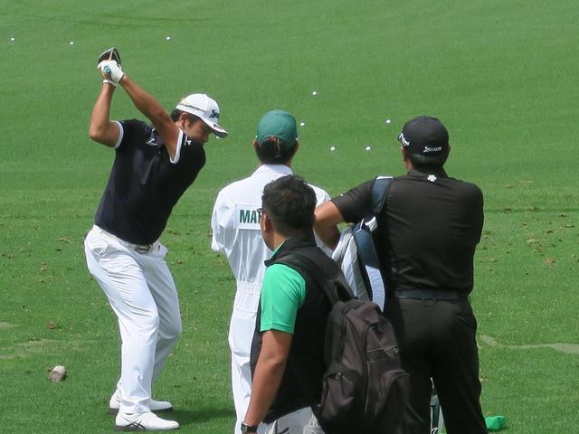 画像: 松山は練習場に最後の一人になるまで残り入念に調整
