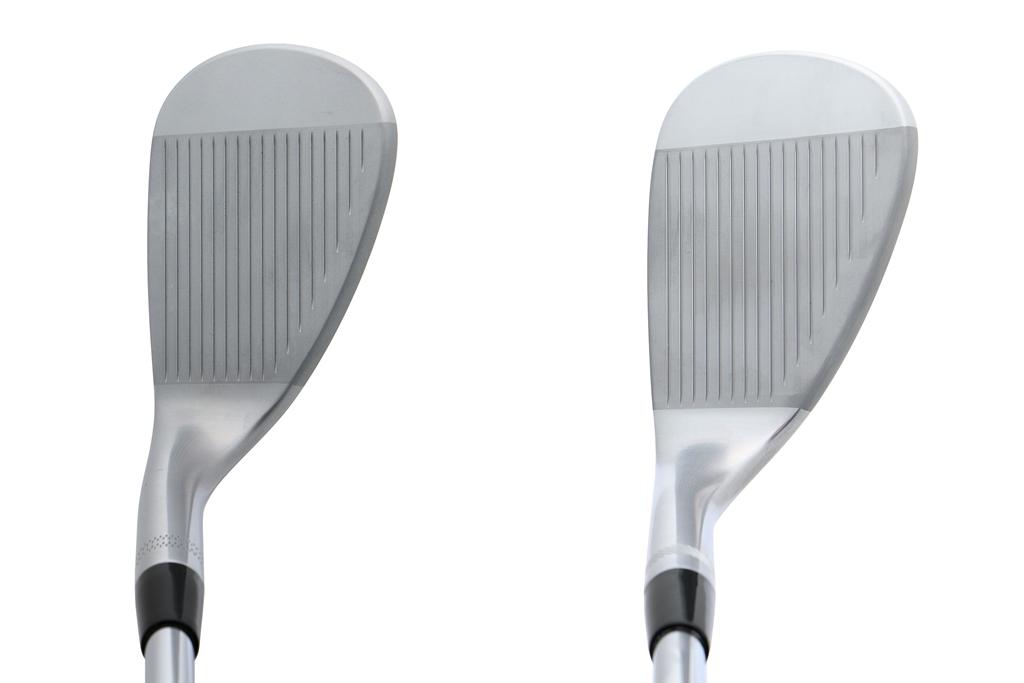 画像: 日本向けのボーケイフォージド(左)とグローバルモデルのSM7(右)を比較するとグースの度合いや大きさの違いがわかりやすい