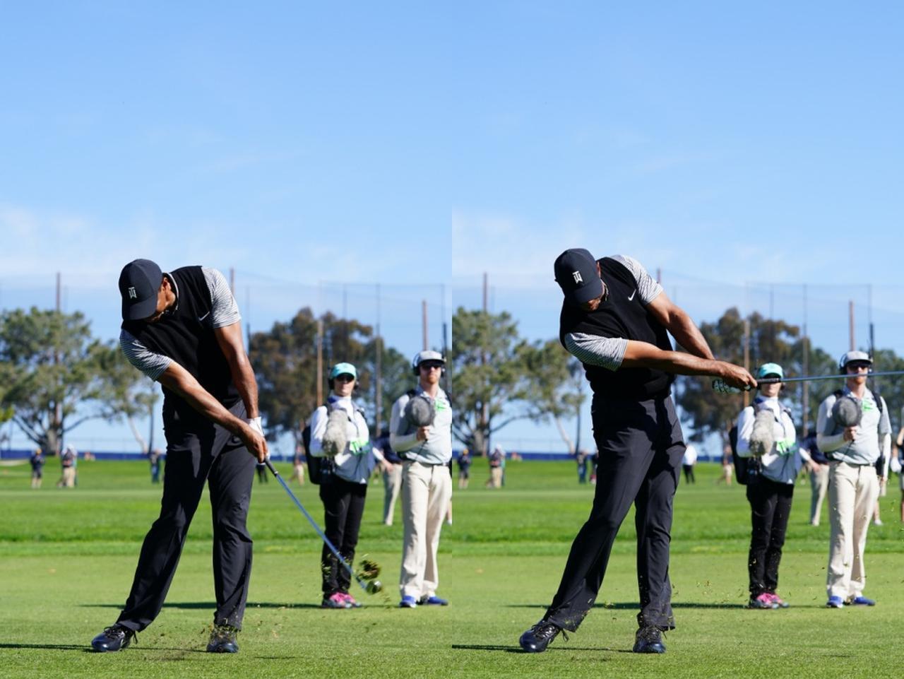 画像: 画像C:体の動きでクラブをコントロールしていることで、方向性の良い低く長いフォローとなっている(写真は2019年のファーマーズインシュランスオープン 撮影/姉崎正)