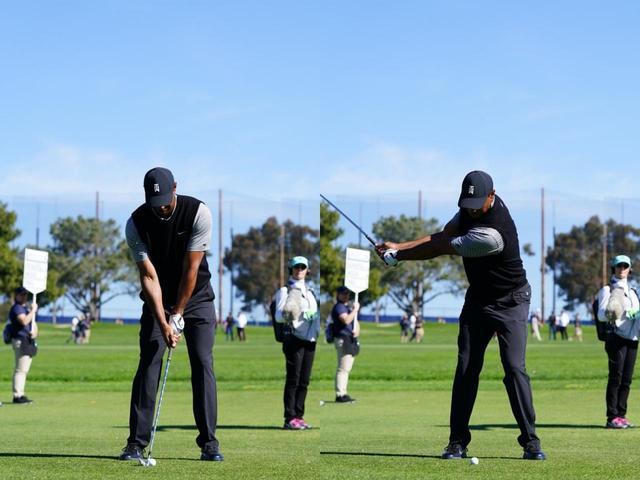 画像: 画像A:左腕が地面と平行になったポジションで背中がターゲットを向くくらい回転している(写真は2019年のファーマーズインシュランスオープン 撮影/姉崎正)