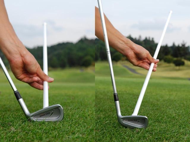 画像: 正しいライ角度でインパクトできないと、ボールが曲がる要因となる
