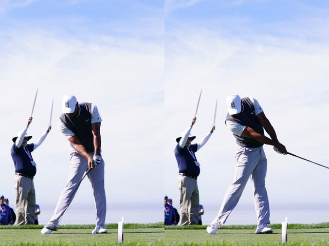 画像: フォローで左ひじをたたまず、最新のギアにマッチしたスウィングになっている(写真は2019年のファーマーズインシュランスオープン 撮影/姉崎正)